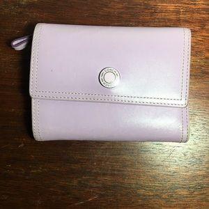Coach purple women manifold credit cards wallet